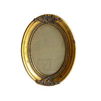 Small Gold Oval Frame