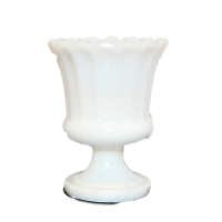 Vintage Milk Glass Compote Vase, Style No. 14