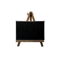 Small Canvas Chalkboards with Small Wooden Easels