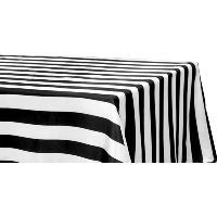 Black Striped for 6' Tables- 90