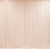 Example of our Peach-Blush Sheer Organza - Backdrop Service