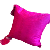 Brilliant Pink Square Pillows