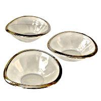 Mirror Rimmed Snack Bowls