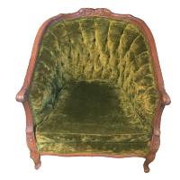 Olive Green Velvet Chair
