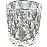 Clear Diamond Votive Holders