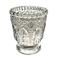 Clear Fancy Glass Votive Holders