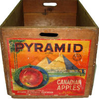 Vintage Wood Apple Crate