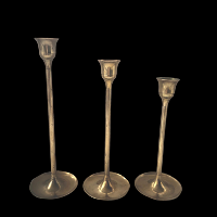 Brass Candlesticks Trio #326