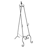 Black Wrought Iron-Fleur De Lis Easel Stand