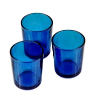 Bright Blue Candle Holders