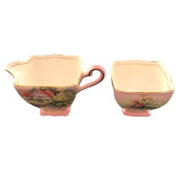 House and Garden Cream and Sugar Set