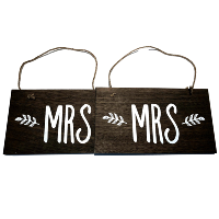 Mrs. and Mrs. Wood Signs