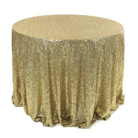 Light Gold Sequin Tablecloths