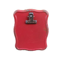 Mini Red Metal Clip Stands