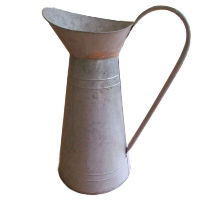 Large Old Fashioned Tin Watering Can