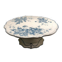 Blue Rose Cake Stand