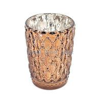 Tall Bronze Diamond Votive Holders