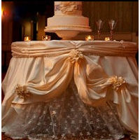Romance Cake Table Covering