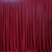Burgundy Sheer Organza Backdrop - Decorating Service