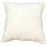 Cream Snowmen Pillows
