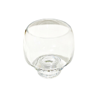 Small Footed Glass Vase