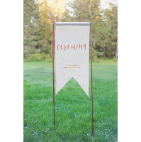Canvas Ceremony Sign with Copper Stand