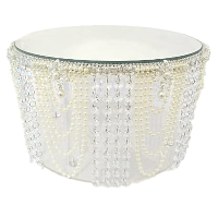 Pearl and Crystal Cake Stand