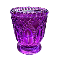 Purple Fancy Glass Votive Holders
