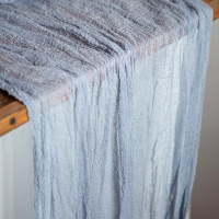 Dusty Blue Cheesecloth Table Runners - 8' Long