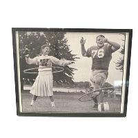 Football Cheerleader Hula Hoop Picture