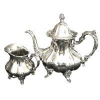 Silver Teapot #2 & Creamer