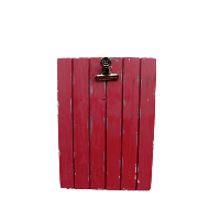 Rustic Red Sign Holders