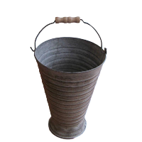 Ribbed Tin Bucket with Handle