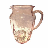 Pink Depression Glass Jug #2
