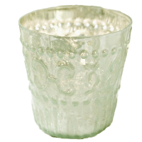 Light Green Mercury Glass Candle/Vase Holders