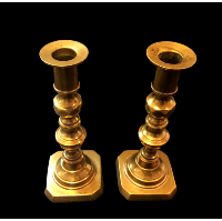 Bel Air Short Brass Candlesticks