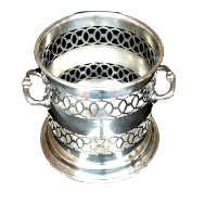 Silver Wine Display Container  with Handles