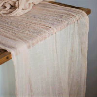 Peach Cheesecloth Table Runners - 16'