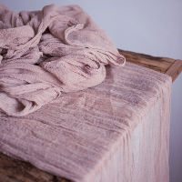 Dark Pinky Mauve Cheesecloth Table Runners - 10'