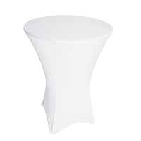 High Pub Table White Spandex Table Covers