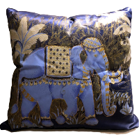 Blue Elephant Pillows