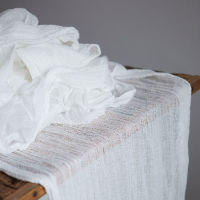 White Cheesecloth Table Runners - 16'