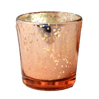 Rose Gold Mercury Glass Tealight Holders