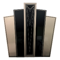 Art Deco Backdrop Wall