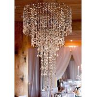Large Silver & Diamond Hanging Chandelier + Installation