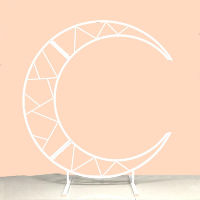 White Crescent Moon Metal Stand