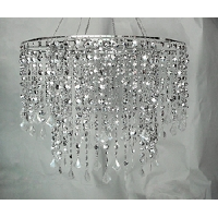 Silver Diamond Hanging Chandelier