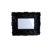 Black Ornate Rectangle Frame