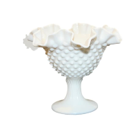 Vintage Milk Glass Compote Vase, Style No. 4