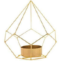 Gold Geo Tealights